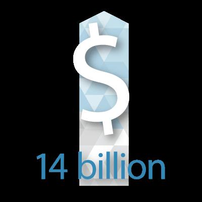 $14 billion dollars graphic